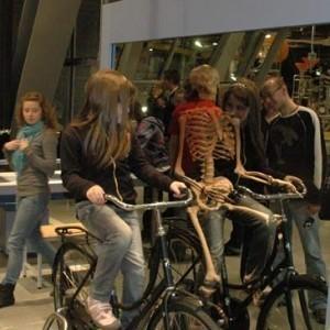 Copernicus Science Centre - Bike-riding skeleton